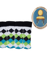 Chair Socks (  Blue and Green Diamond )