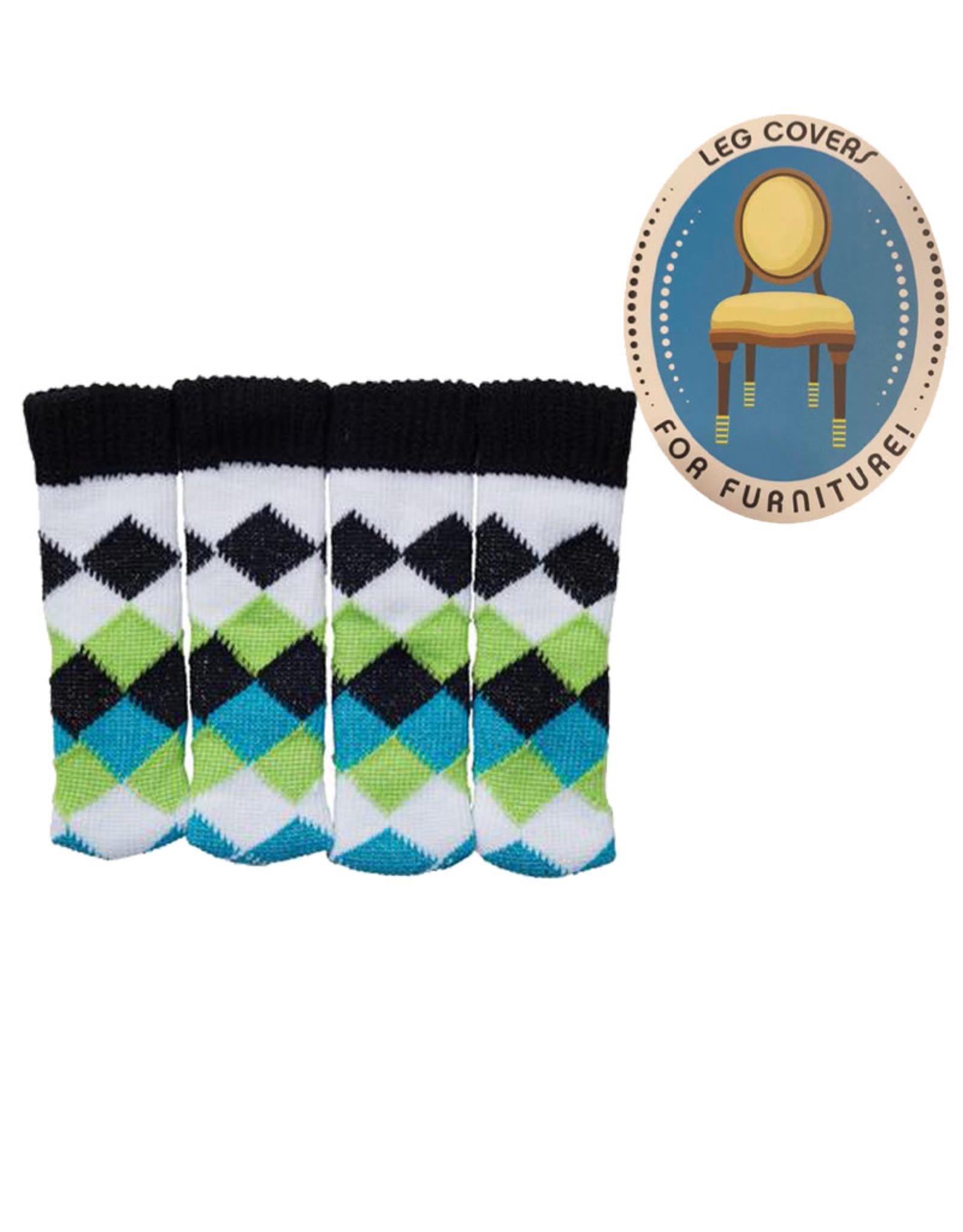 Chaussettes de Chaise ( Losange bleu et vert )