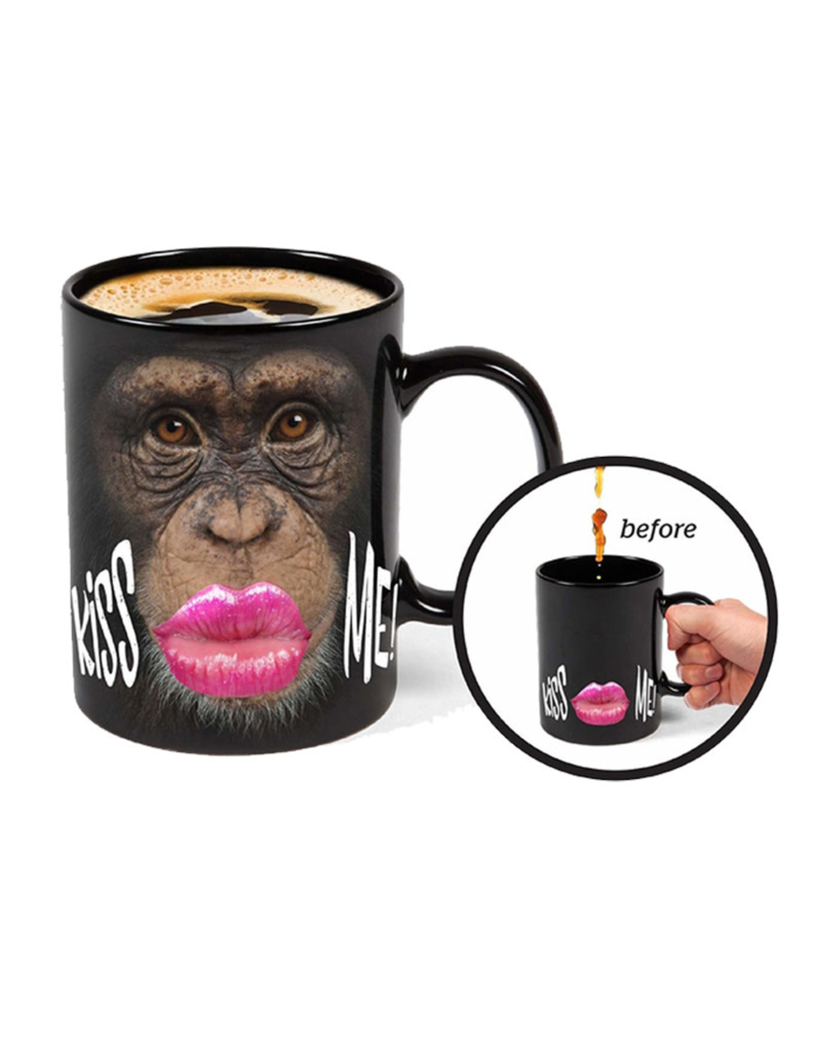 Monkey Thermoreactive ( Mug ) Kiss Me