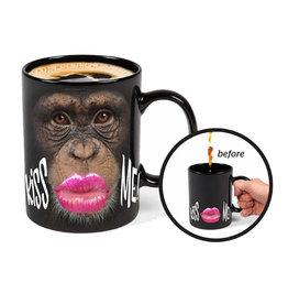 Monkey Thermoreactive ( Mug ) Kiss Me
