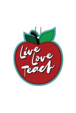 Apple ( Pack of 3 Air Fresheners ) Live Love Teach
