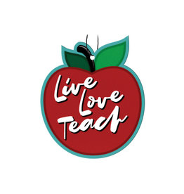 Apple ( Pack of 3 Air Fresheners ) Live Love Teach