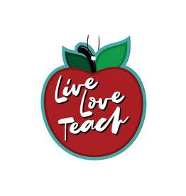 Pomme (Paquet de 3  Désodorisants pour Voiture ) Vivre Aimer Enseigner