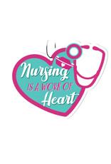 Coeur ( Désodorisant pour Voiture ) Les soins infirmiers sont un travail de coeur