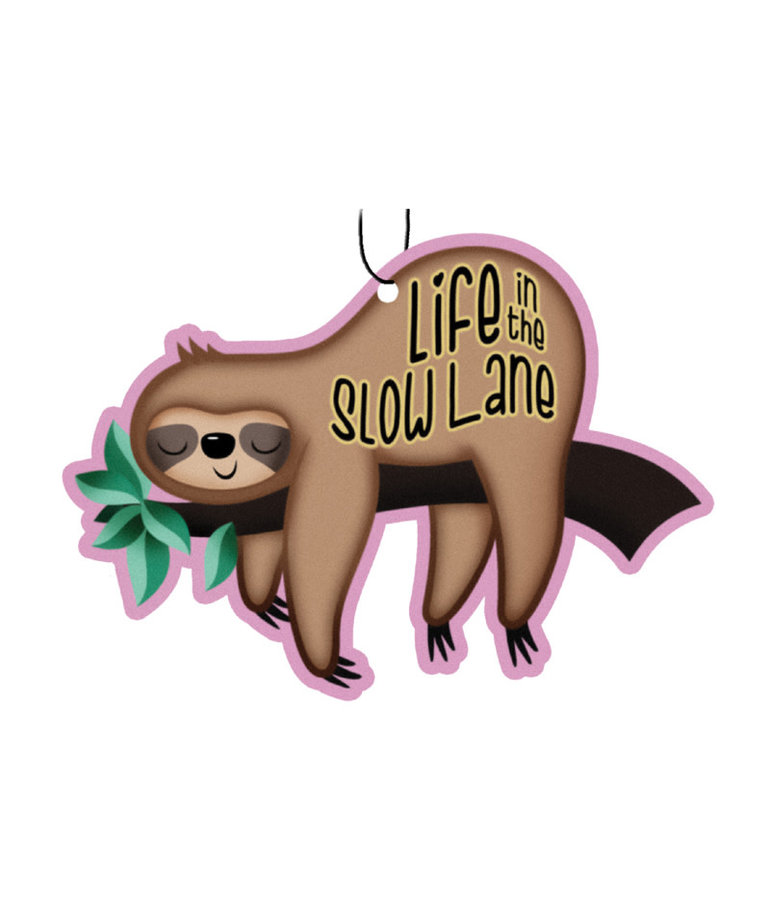 Sloth ( Pack of 3 Air Fresheners ) Life in the Slow Lane