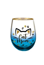 Cat Mom ( Wine Glass )