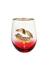 Kiss Lips  ( Wine Glass )