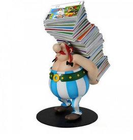 Astérix Obélix ( Figurine ) Pile d'albums