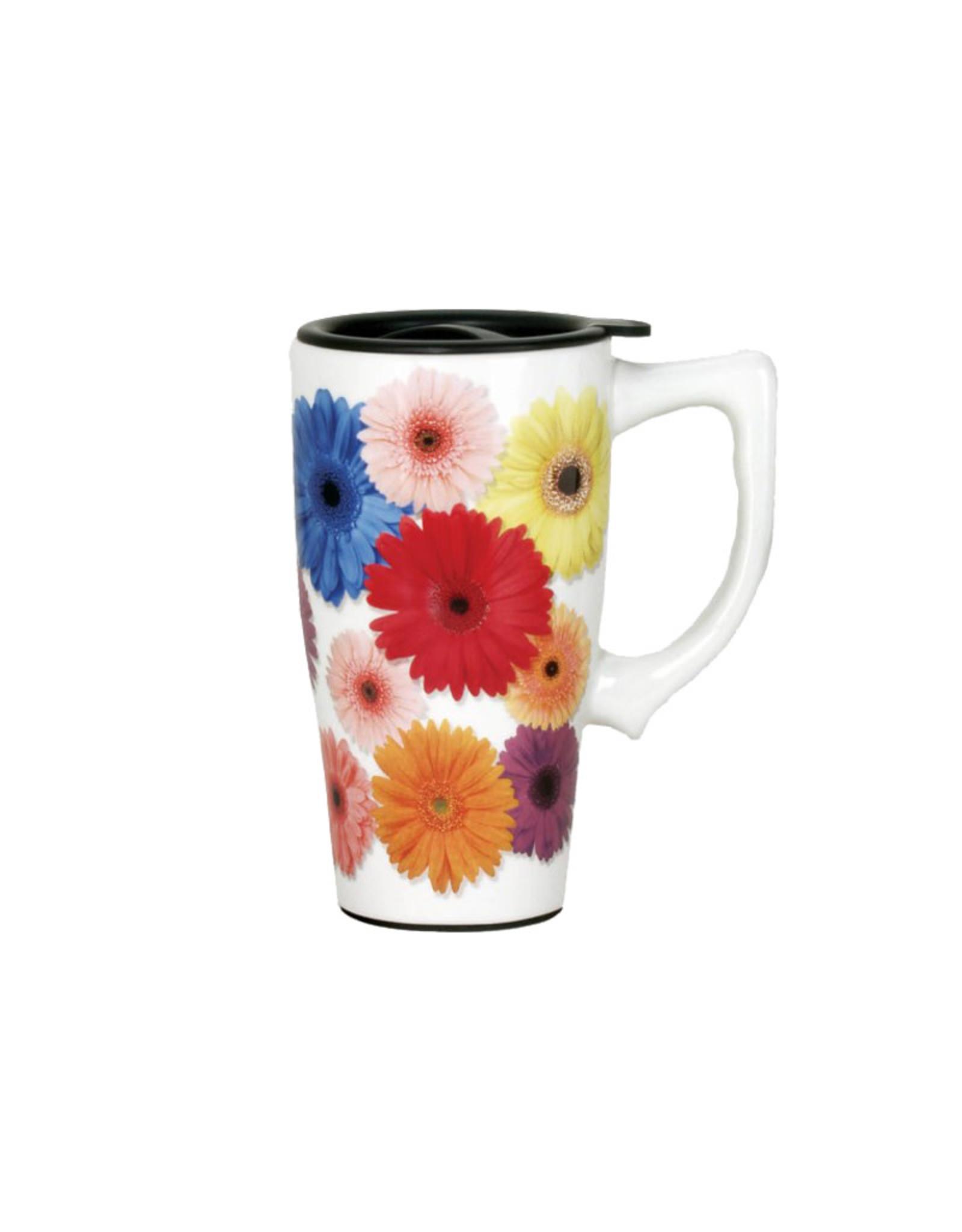 Daisy  ( Ceramic Travel Mug )