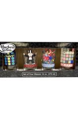 Hasbro ( Set of 4 Glasses ) Board Games