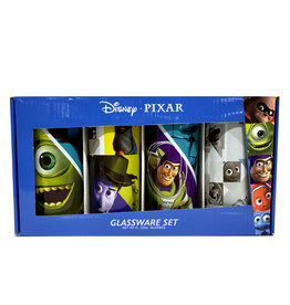 Disney ( Set of 4 Glasses ) Pixar