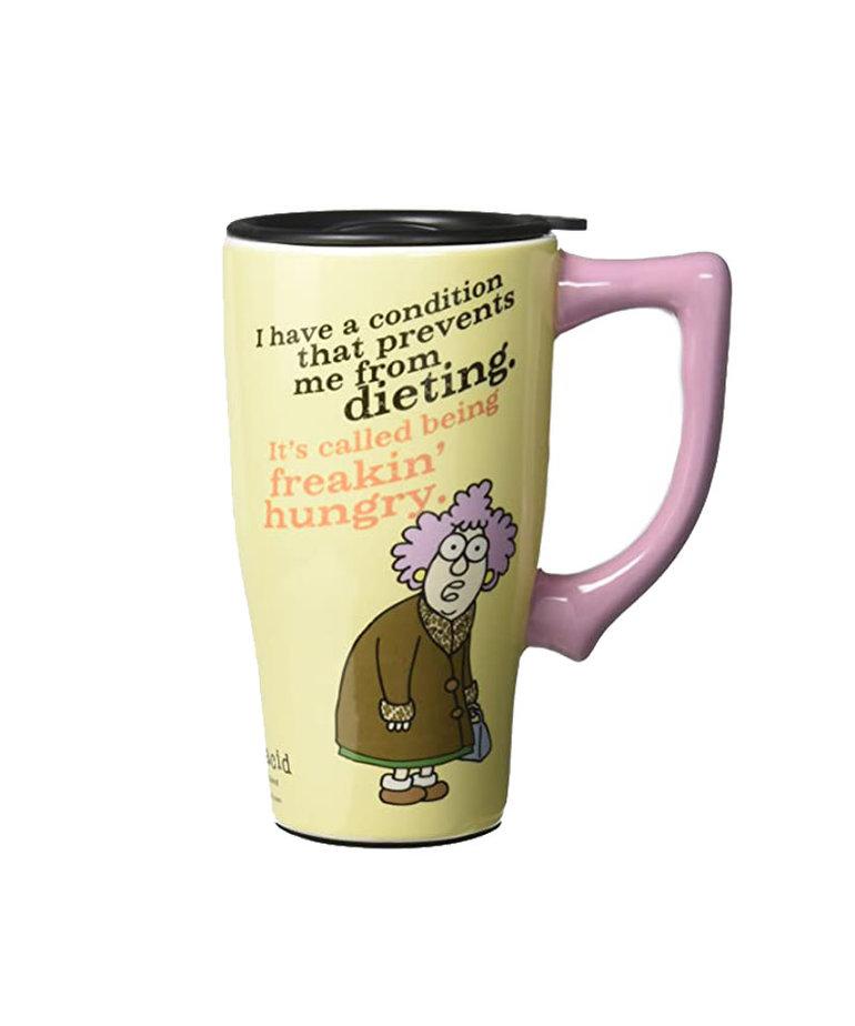 Freakin' Hungry ( Ceramic Travel Mug )