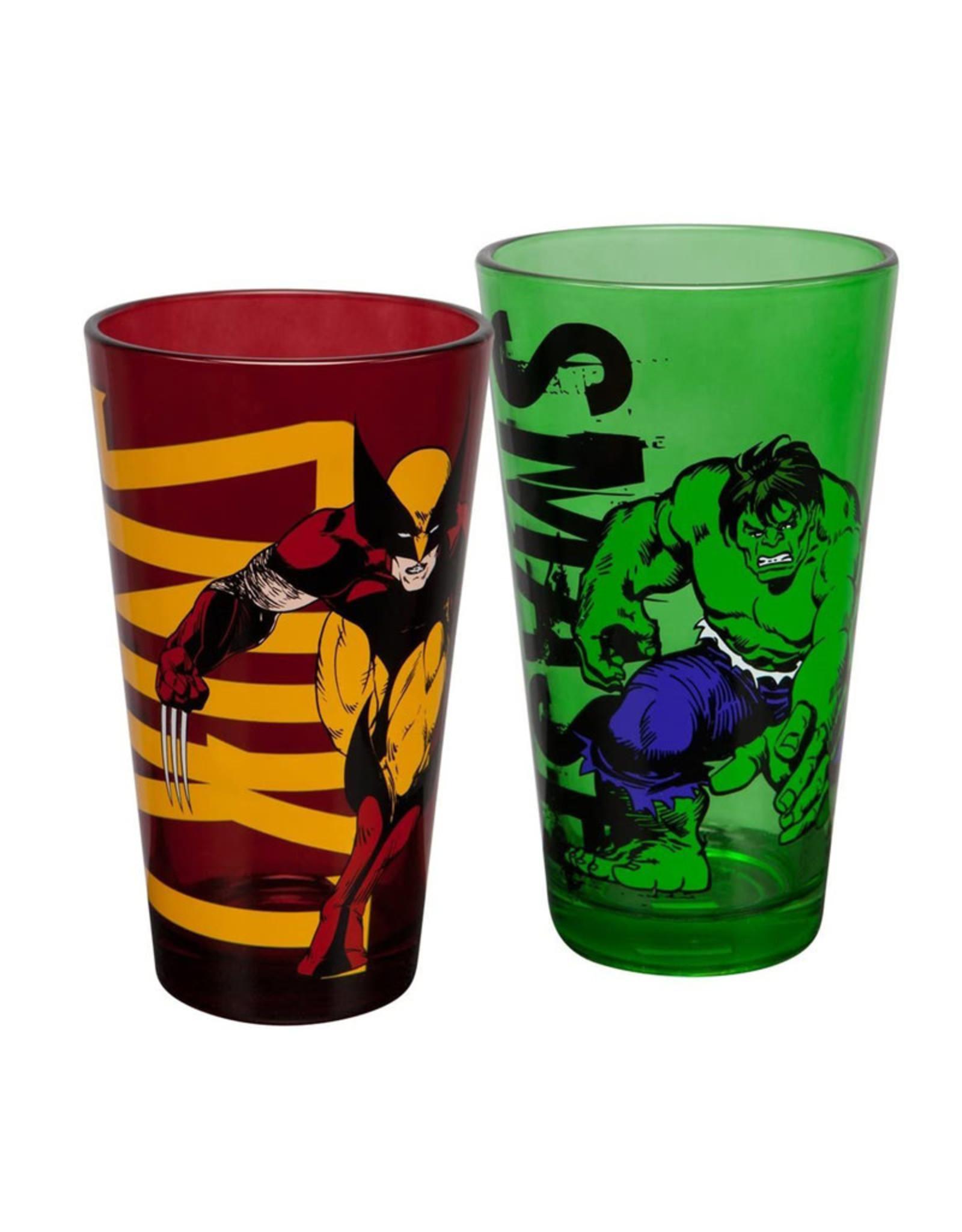 Marvel Marvel ( Set of Two Glasses ) Hulk / Wolverine
