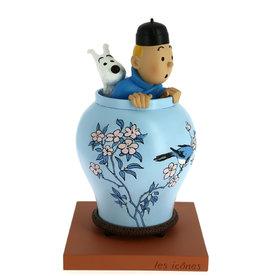 Tintin Tintin ( The Icons ) Blue Lotus Resin Vase