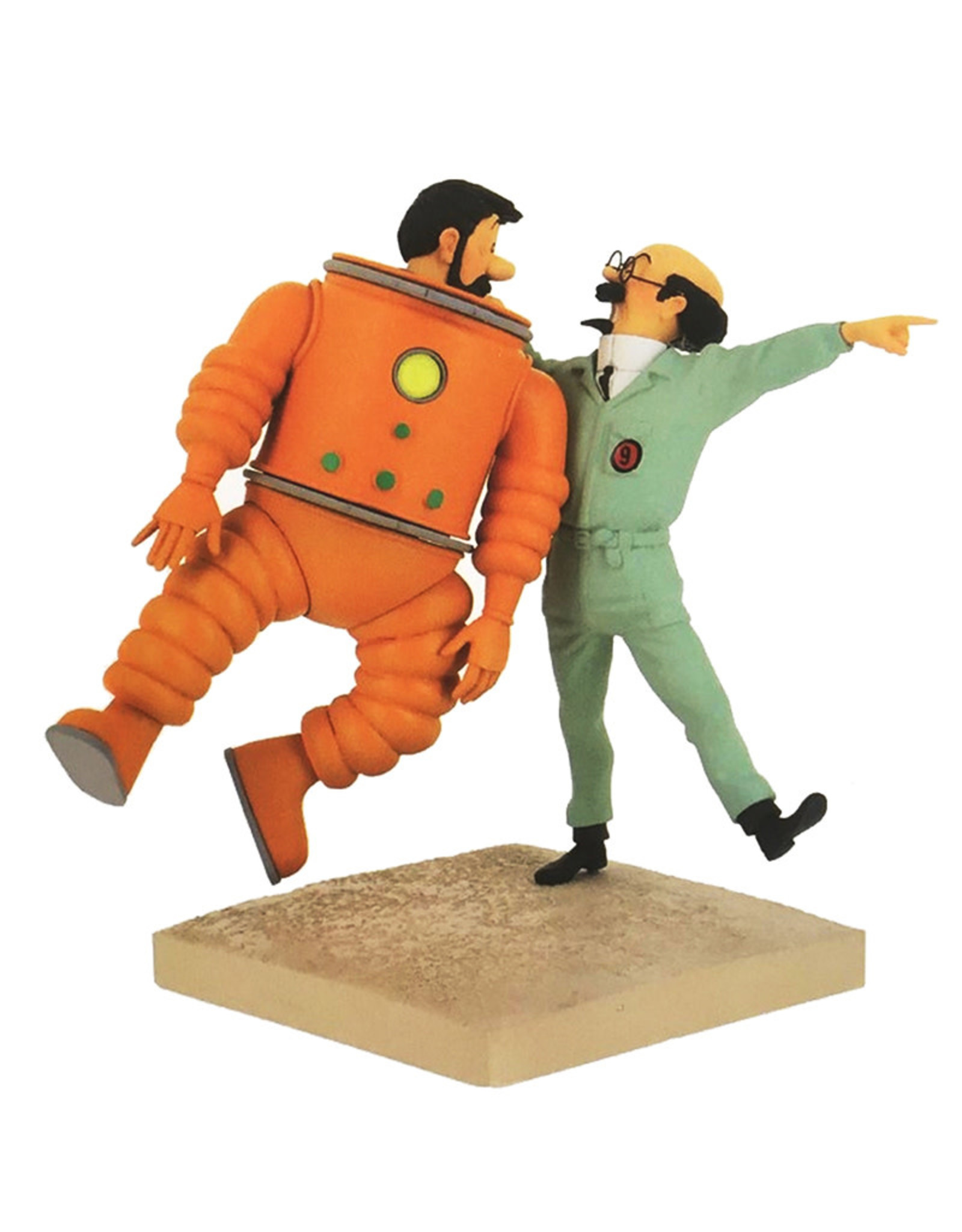 Tintin Tintin ( Resin Figurine )  Calculus & Haddock Lunar