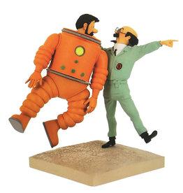 Tintin Tintin ( Figurine en Résine ) Haddock & Tournesol Lunaire