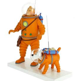 Tintin Tintin ( Resin Figurine 26 cm ) Tintin & Snowy  Cosmonaut