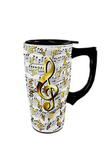 Music Notes ( Ceramic Travel Mug )