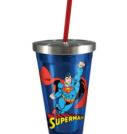 Dc comics Dc Comics ( Stainless Steel Glass with Straw ) Superman