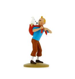 Tintin Tintin ( Figurine en Résine 12 cm ) Tintin Ramène Milou