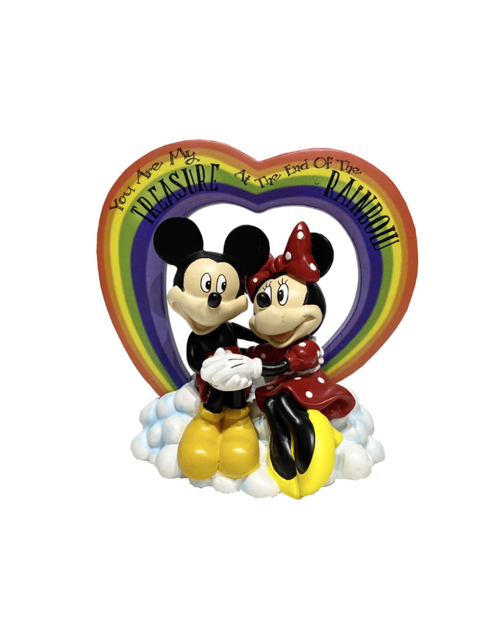 Disney Disney ( Diorama ) Mickey & Minnie Mouse Rainbow Heart