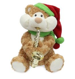 Singing Saxophone Bear (  Cuddle Barn ) Santa Claus is Coming to Town