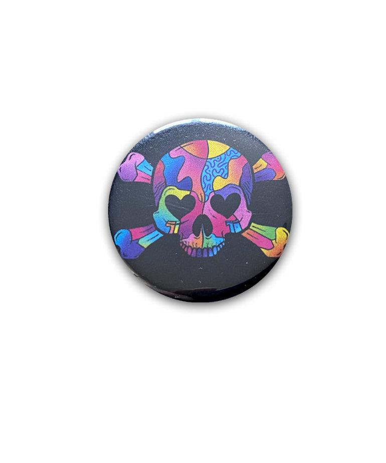 Multicolored Skull ( Button )