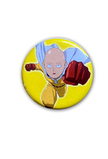 One Punch Man ( Button ) Saitama On Yellow