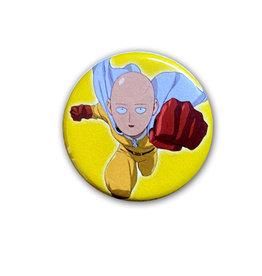 One Punch Man ( Macaron ) Saitama sur fond jaune