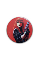 Marvel Marvel ( Button ) Black Widow on Red