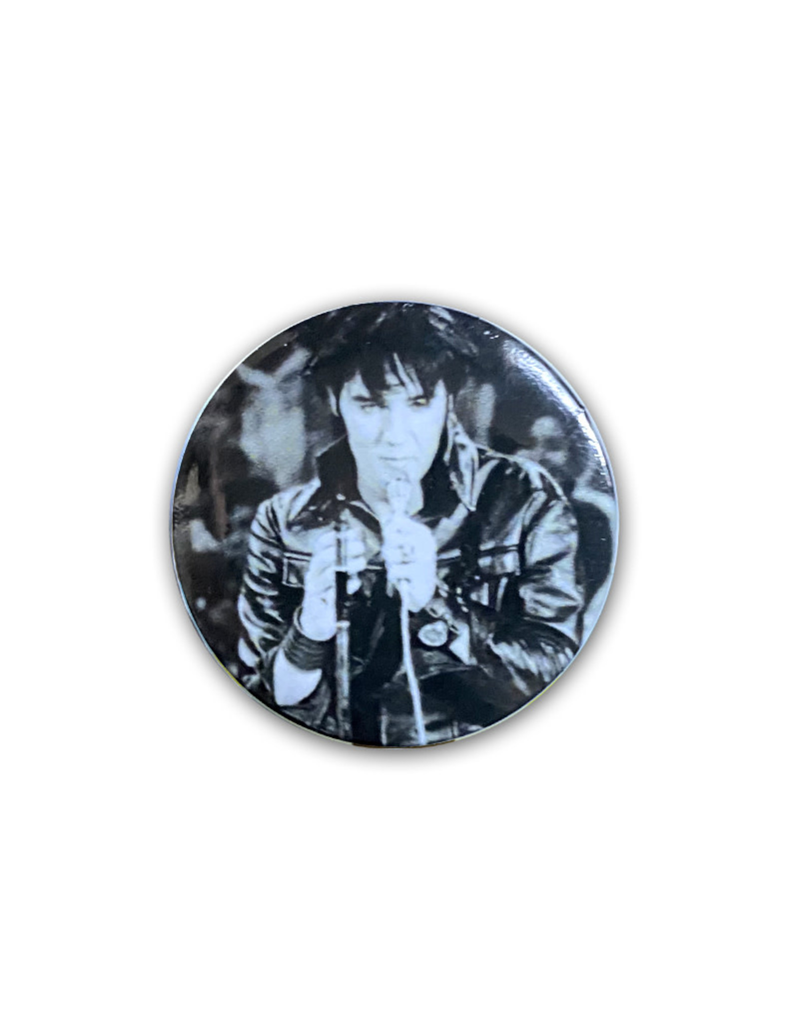 Elvis Elvis Presley ( Button ) Black Leather