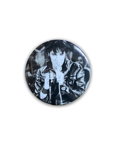 Elvis Elvis Presley ( Button ) Black Leather