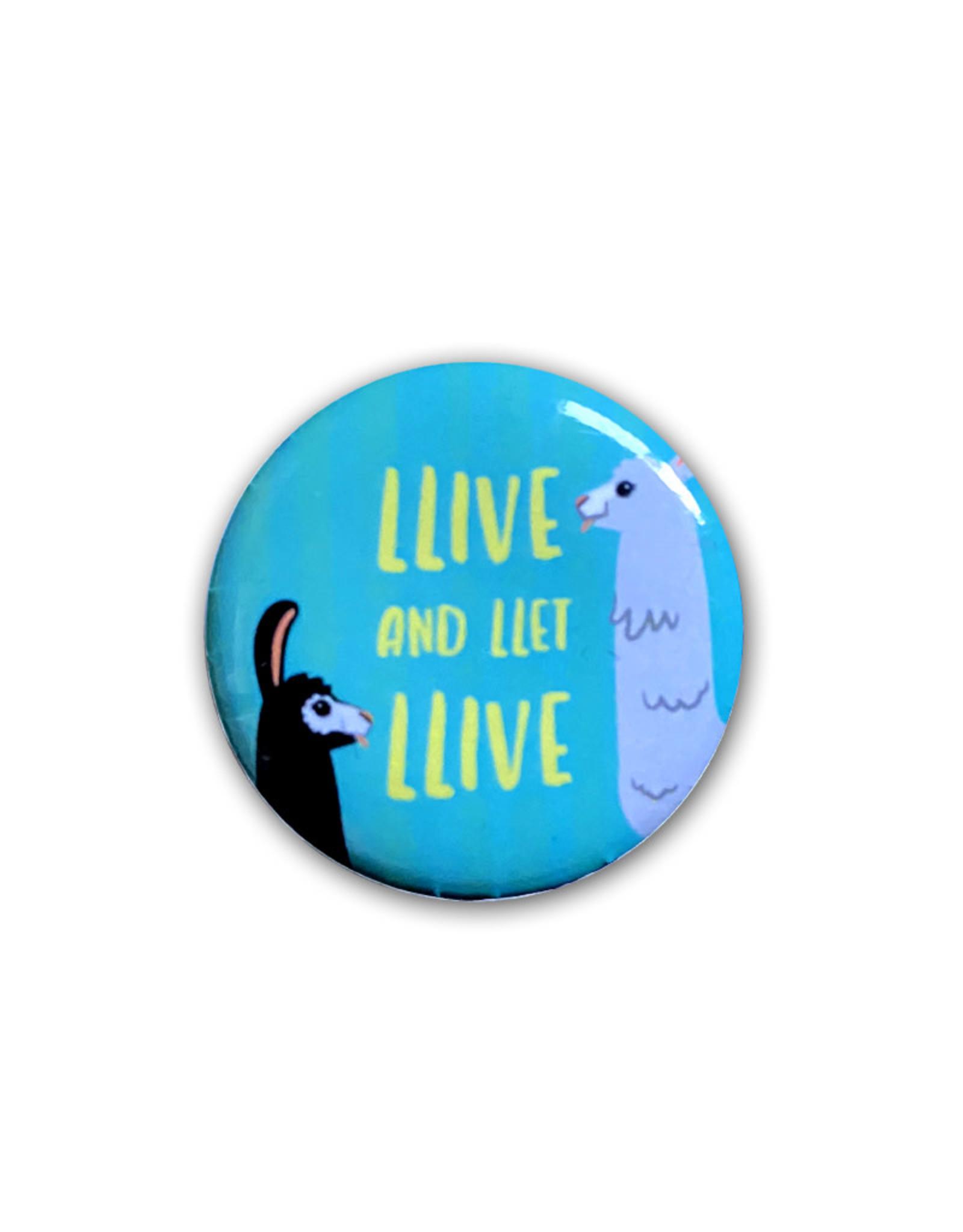 Llama ( Button )  Llive and Let Llive