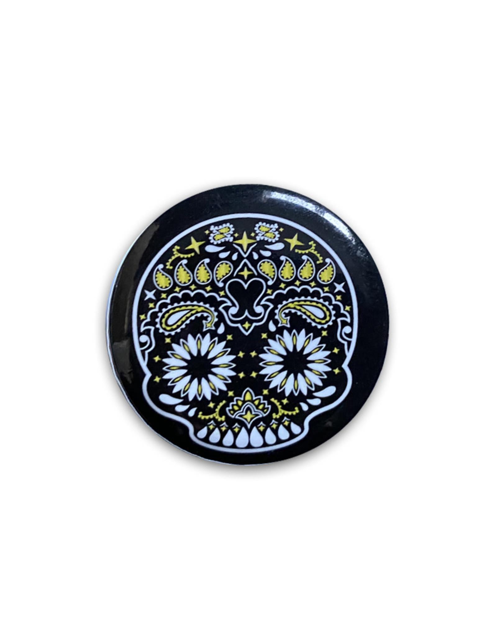 Skull ( Button ) Black