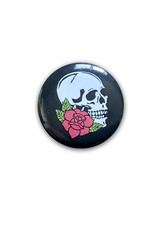 Skull ( Button ) Rose Red