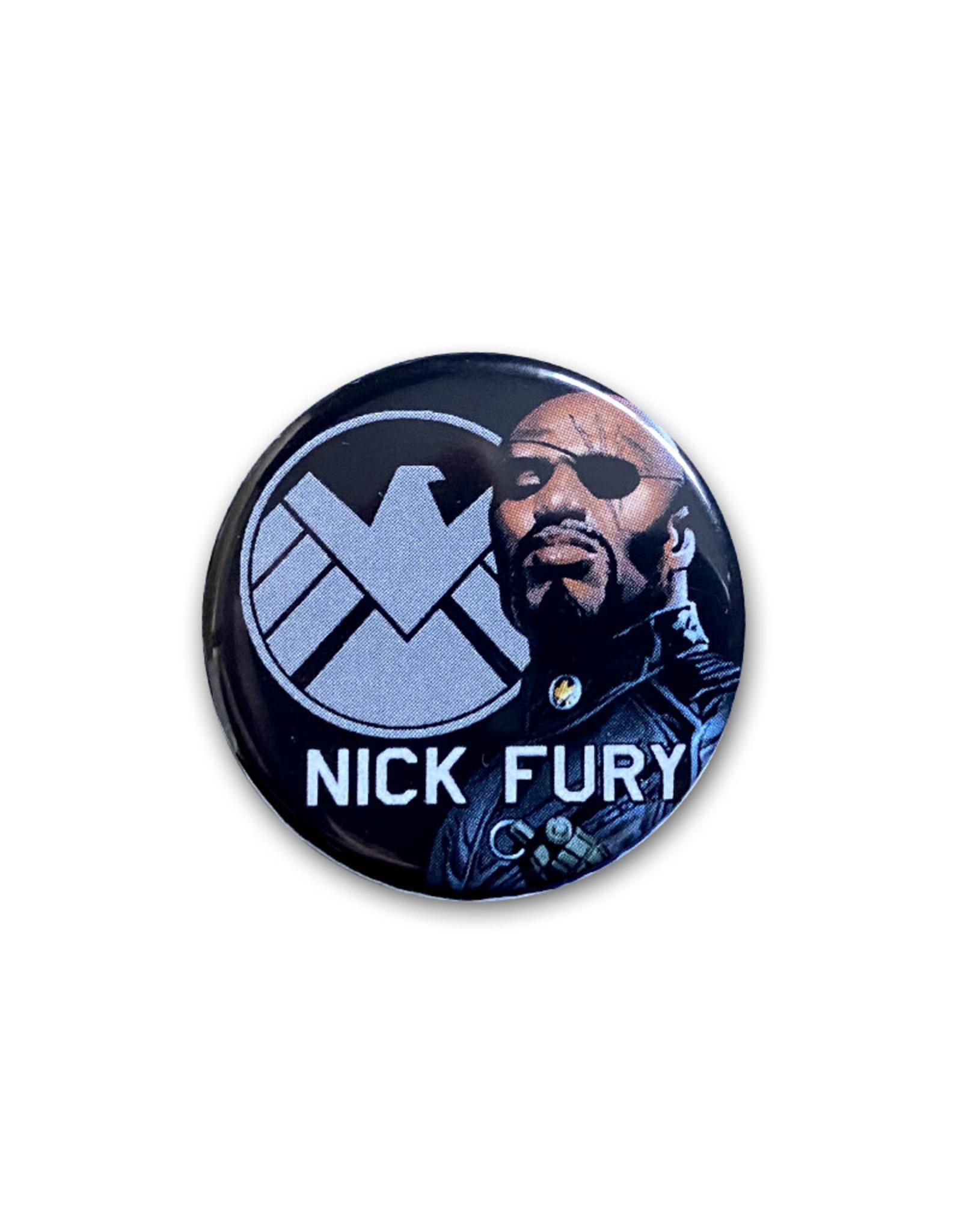 Marvel Marvel ( Button ) Nick Fury