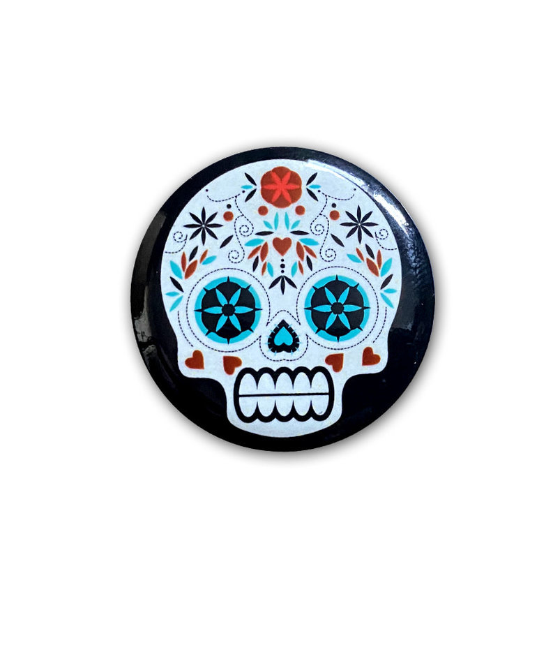 Skull ( Button ) White