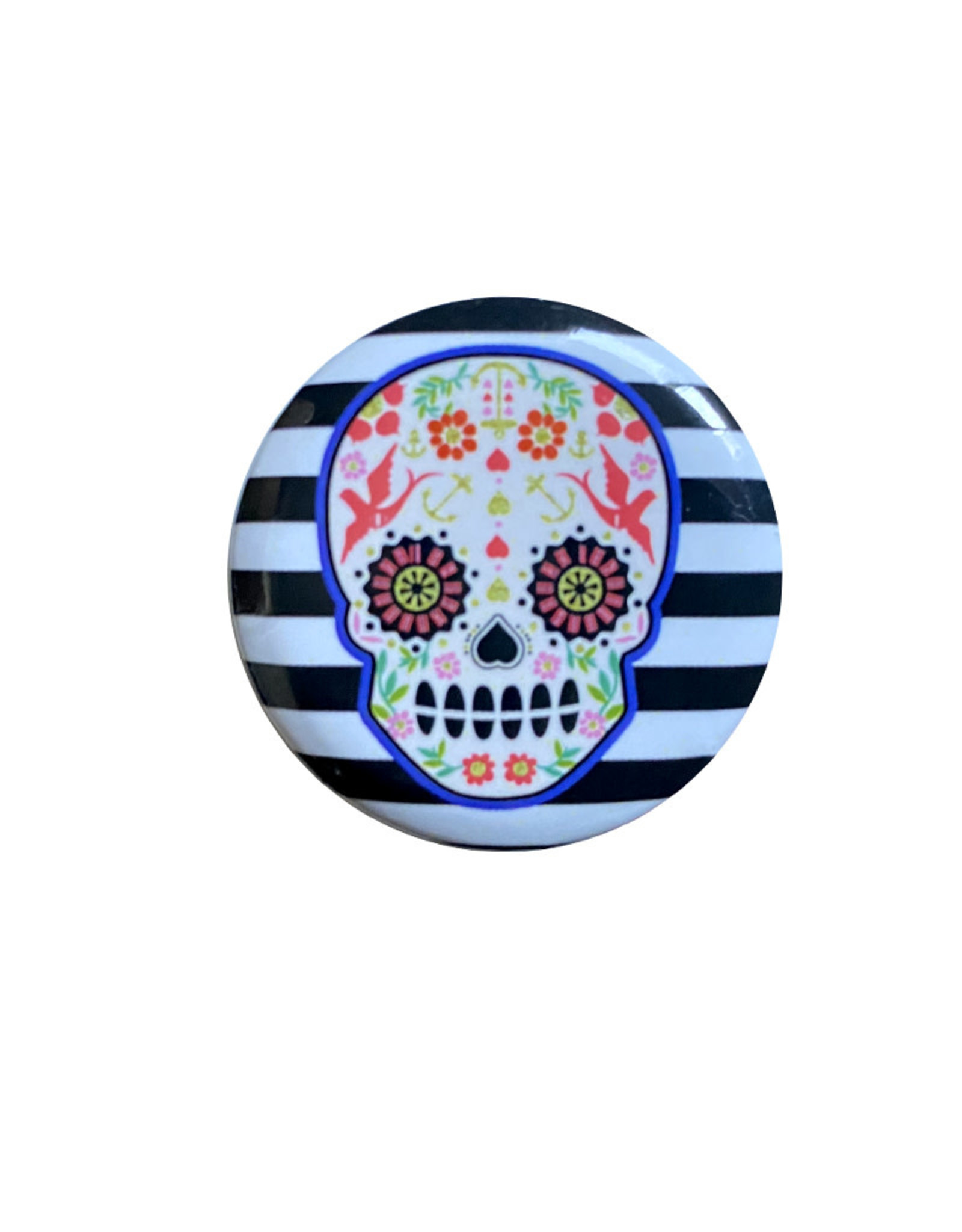 Skull ( Button ) Stripes