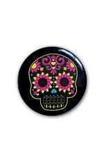 Skull ( Button ) Neon