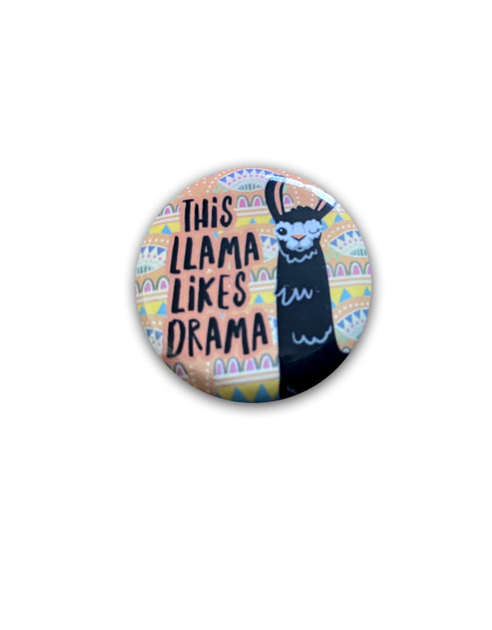 Llama ( Button ) Llama Likes Drama