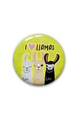 I Love Llamas ( Button )