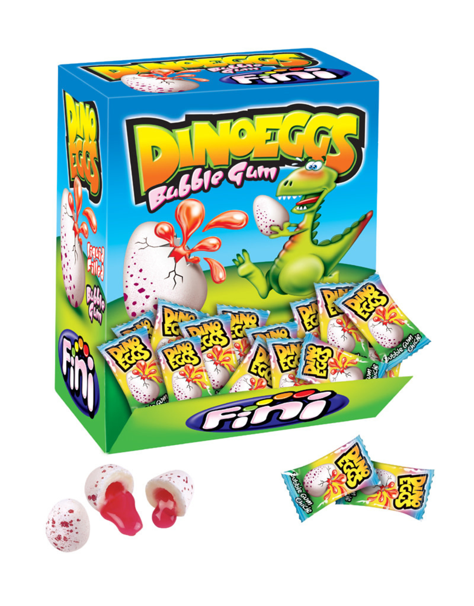 Dino Eggs ( 8 Bubble Gum ) Juicy