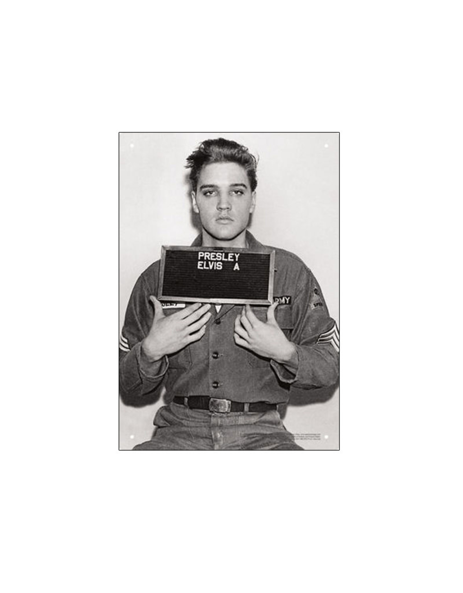 Elvis Presley ( Tin signs 8.5cm x 11.5cm ) Jail