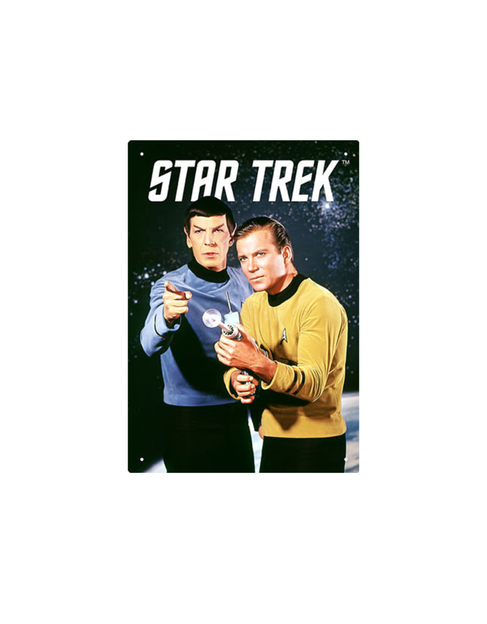 Star Trek ( Tin signs 8.5cm x 11.5cm) Kirk & Spock