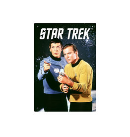 Star Trek ( Tin signs 8.5cm x 11.5cm) Kirk & Spock