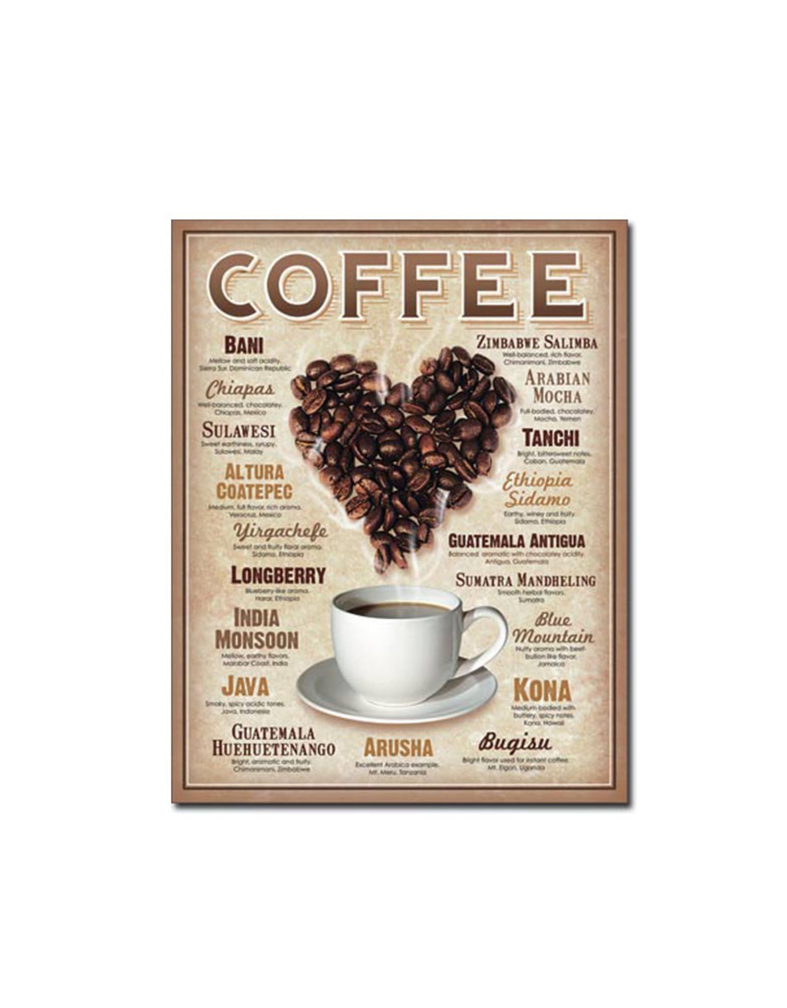 Coffee ( Metal Sign 12.5 X 16 )