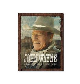 John Wayne ( Affiche de Métal 12.5 X 16 ) Une Autre Belle Journée