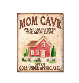 Mom Cave ( Metal Sign 12.5 X 16 )