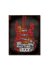 Guitar Rock ( Metal Sign 12.5 X 16 )