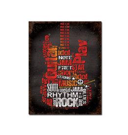 Guitar Rock ( Metal Sign 12.5 X 16 )